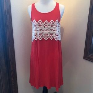Xhilaration coral lace detailed dress